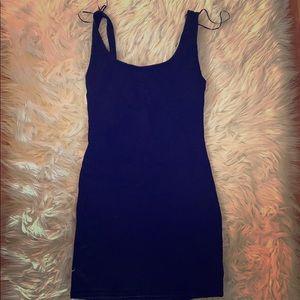 Zara denim backless dress